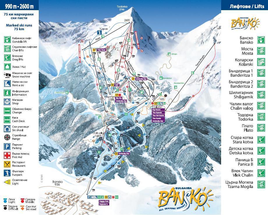bansko-ski-map