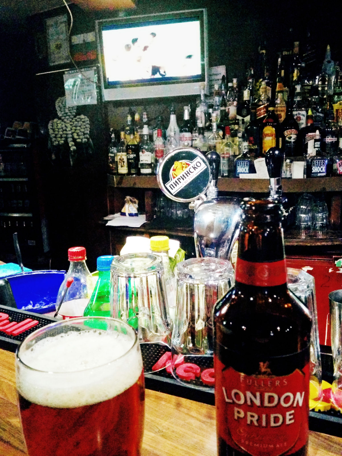 Lion's Pub Bansko, London Pride Beer