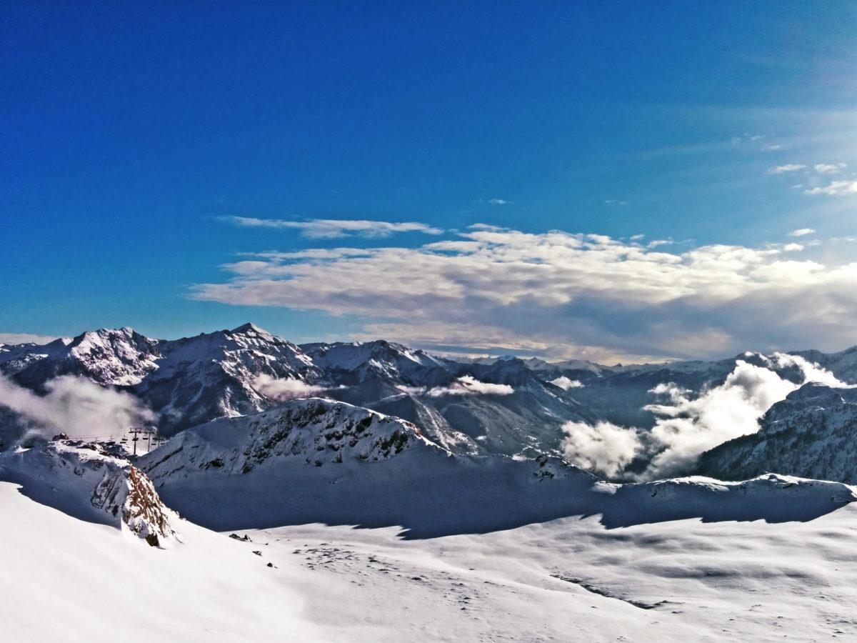 Briancon, serre chevalier, mountains panorama