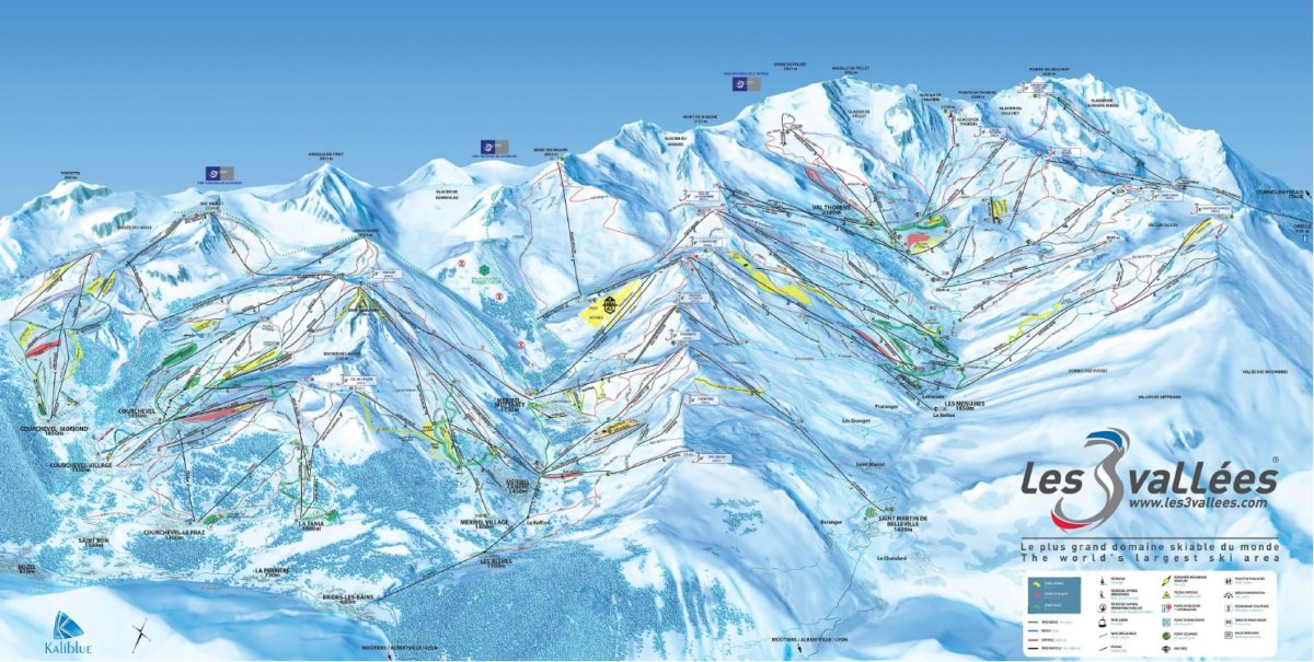 les-menuires-ski-map