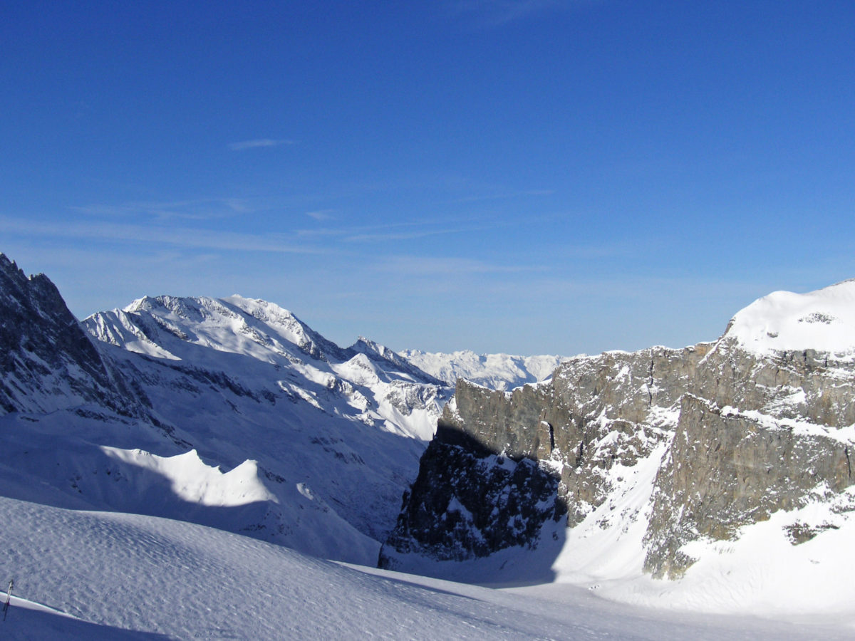 Tignes mountains panorama
