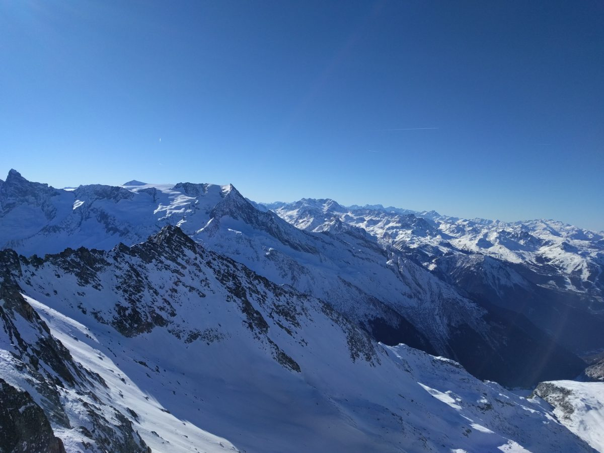 La Plagne mountains panorama