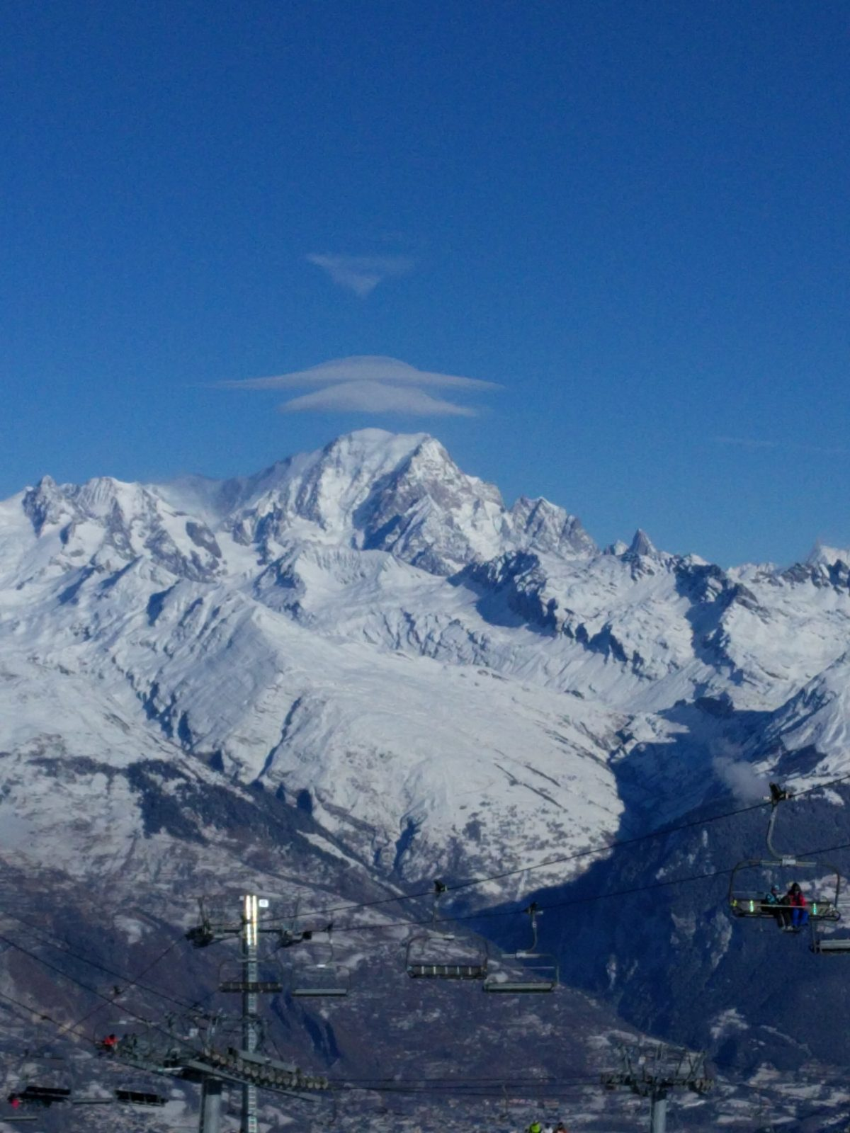Mont Blanc view from Les Arcs