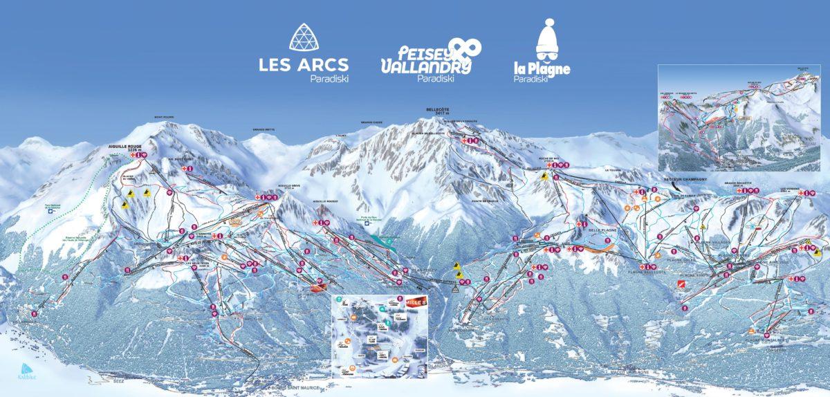 La Plagne ski map