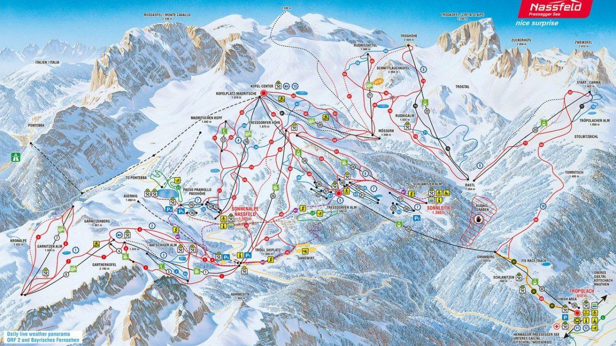 Nassfeld ski map