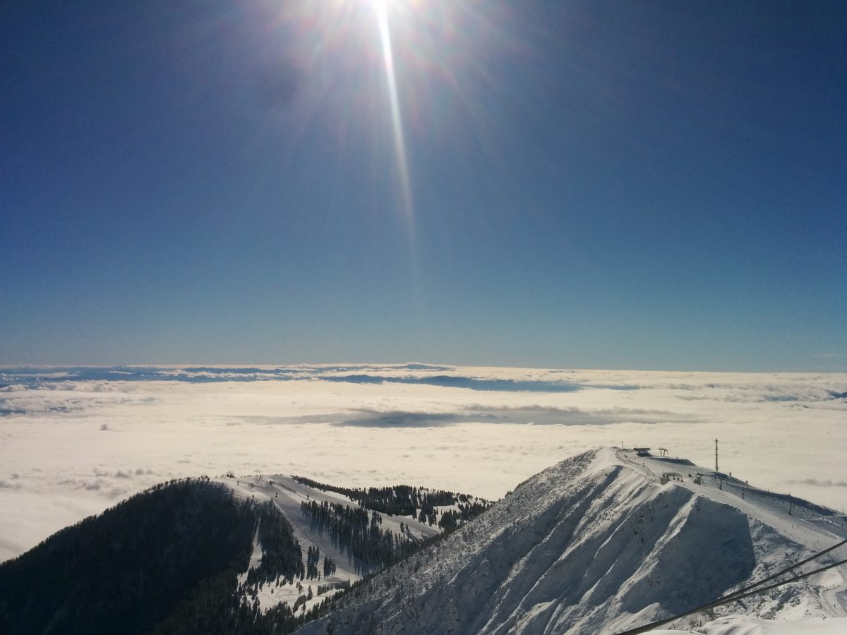 krvavec view above clouds