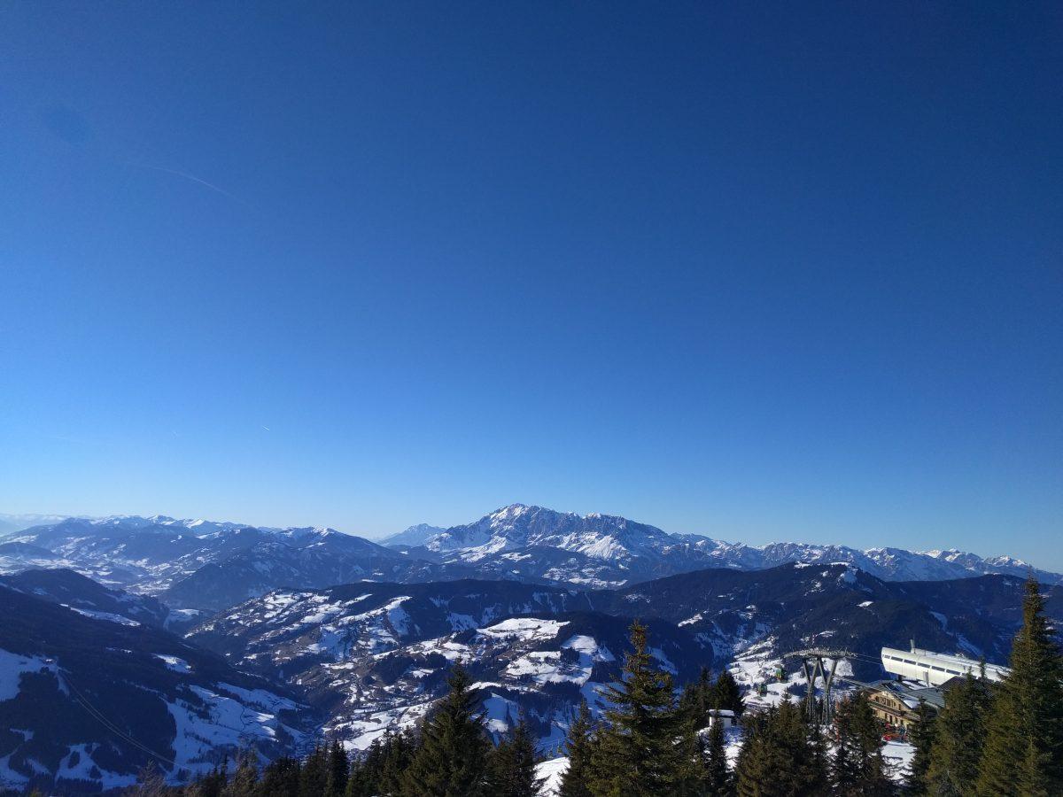 flachau mountain view