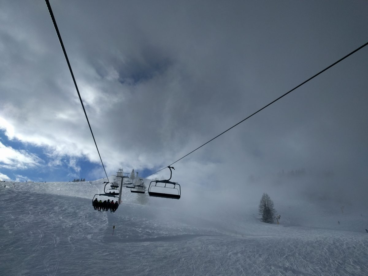ski lift partial in clouds