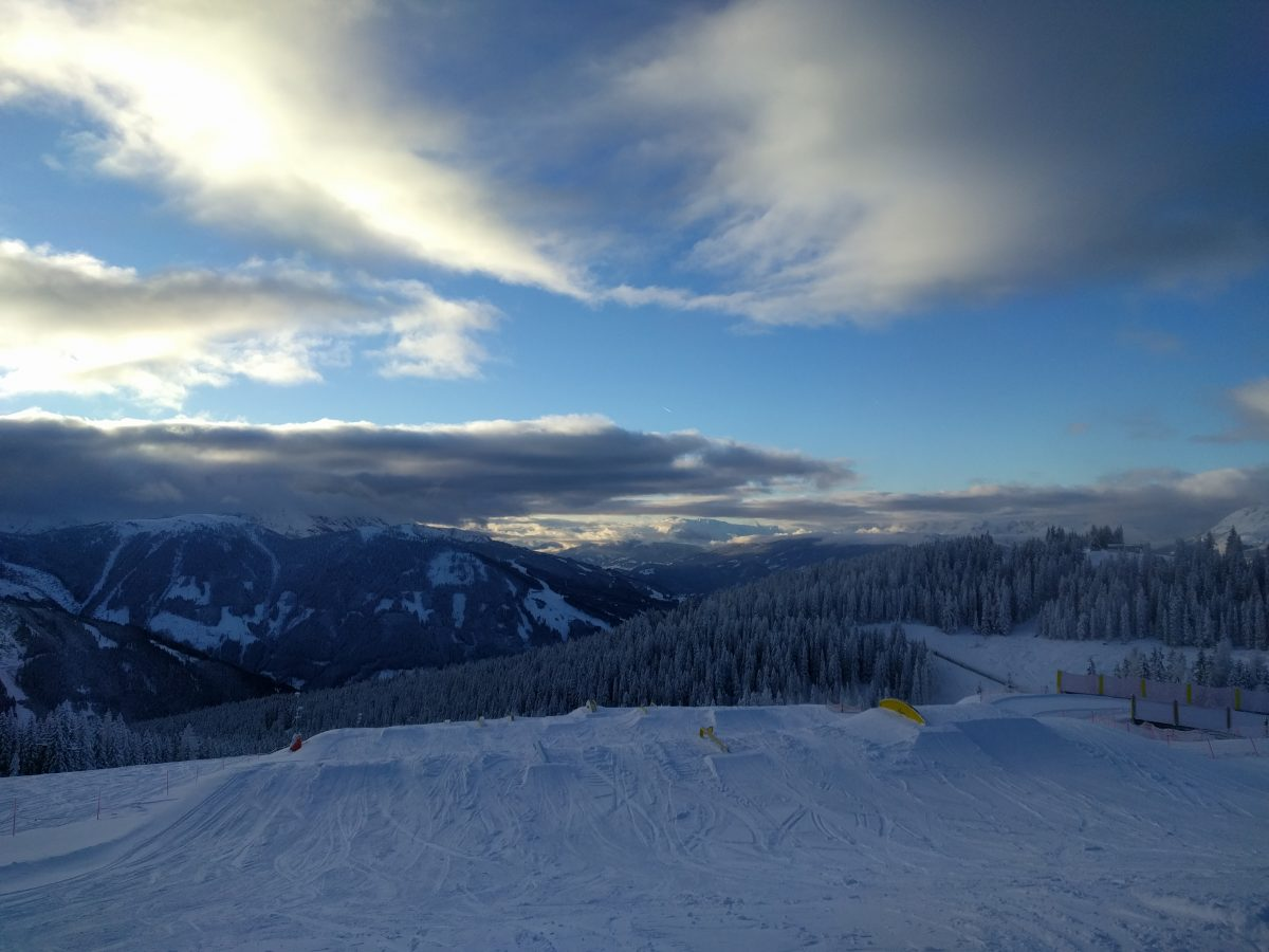 schladming snow park sunset