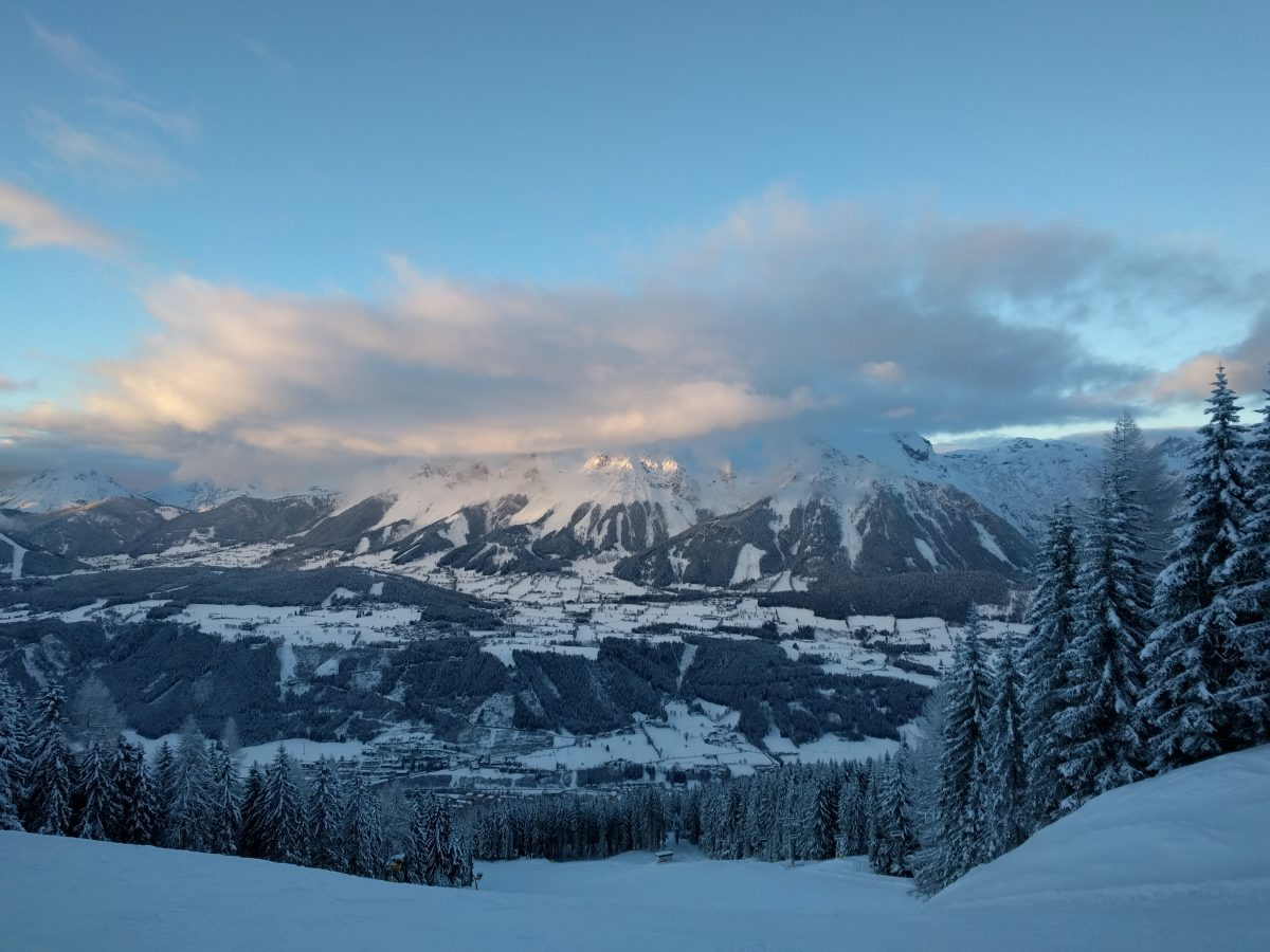 schladming end of day panorama