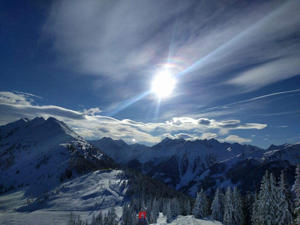 schladming dachstein mountains panorama, sunny day