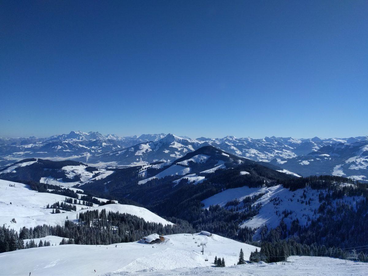 skiwelt mountains panorama