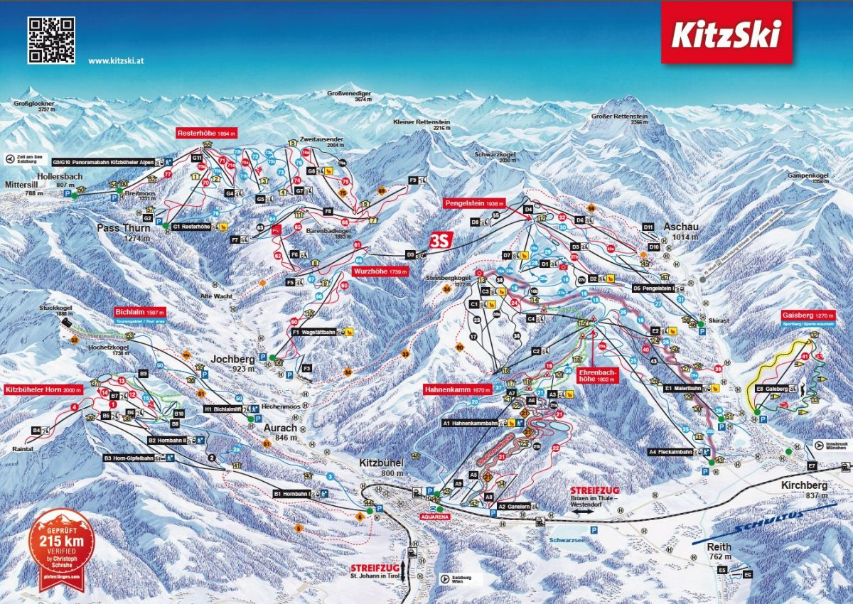Kitzbuhel ski map