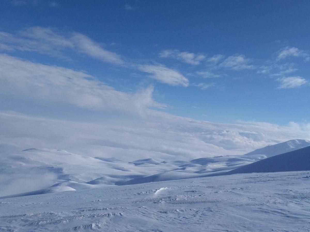 mountain panorama, above clouds