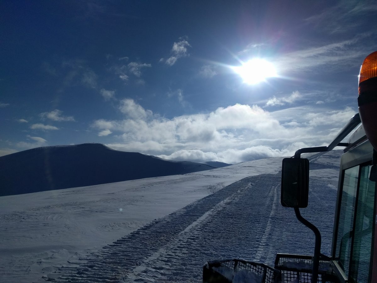 mountain view from snow cat eskimo freeride