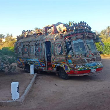 Colorful bus in El Gouna