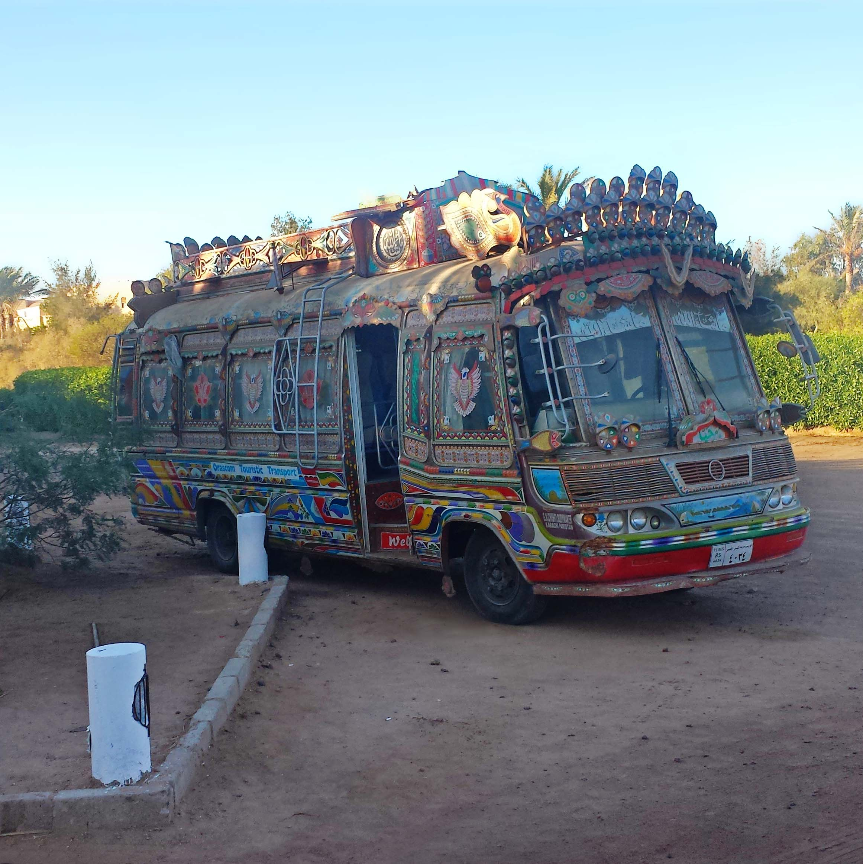 Colorful bus in El Gouna