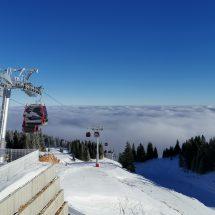 Jahorina gondola above clouds