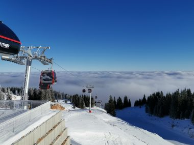 Jahorina gondola above clouds