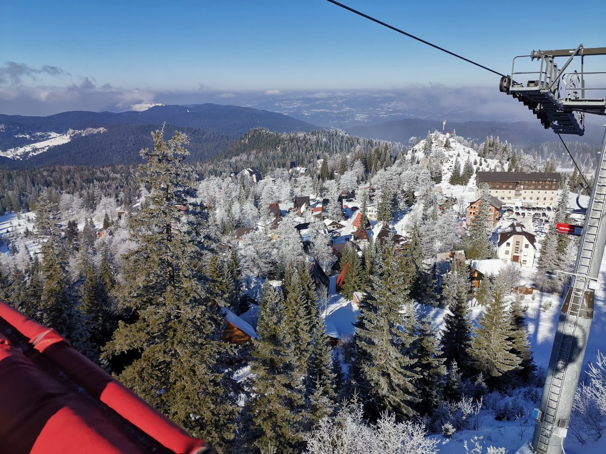 View from Poljice ski lift