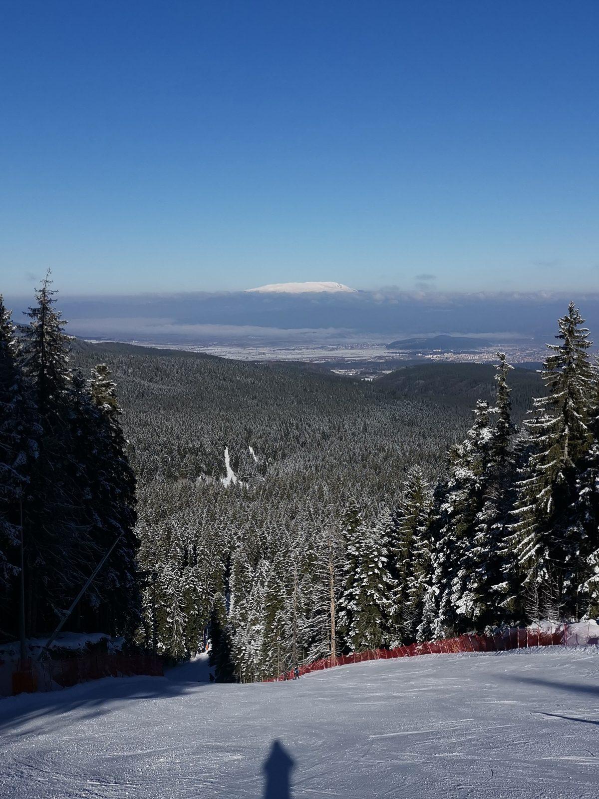 Borovets ski slope panorama